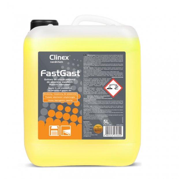 Clinex FastGast - Preparat do usuwania tłustych zabrudzeń - 5 l