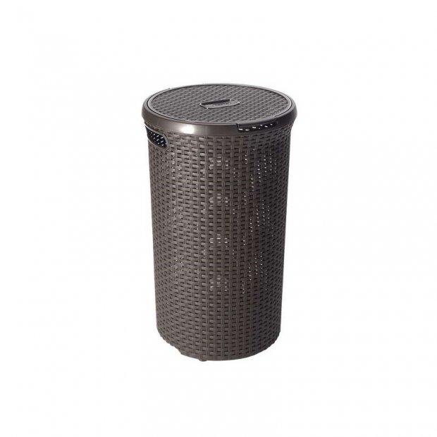 Curver - Kosz ażurowy na ubrania, brązowy - 50 l