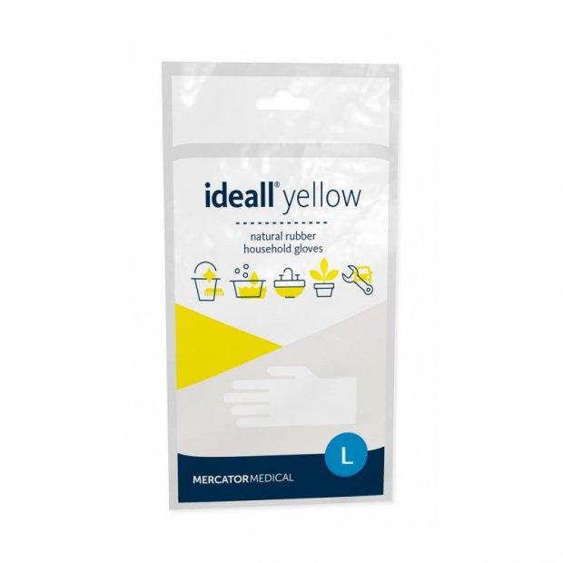 Ideall Yellow – Lateksowe rękawice gospodarcze, żółte - L