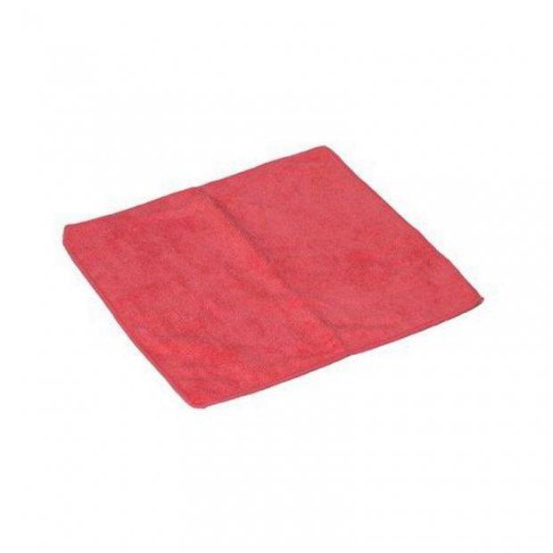 CleanPRO - Ścierka z mikrofibry, 40 x 40 cm - Czerwona