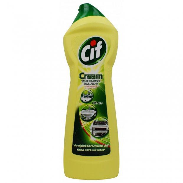 Cif Lemon - Mleczko do czyszczenia z mikrokryształkami - 750 ml