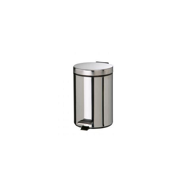 Rossignol - Kosz na odpady, stalowy, chromowany - 3 l