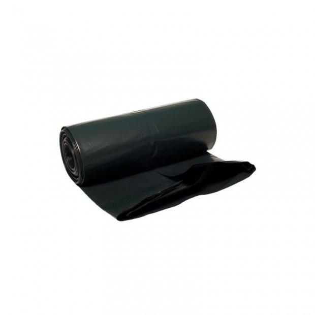 Aglo3 - Worki na śmieci, czarne, mocne, folia z recyklingu LDPE, 50 sztuk - 35 l