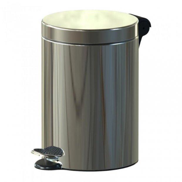 Alda Freedom Fresh - Kosz na śmieci z pedałem, 3 l, połysk - Srebrny