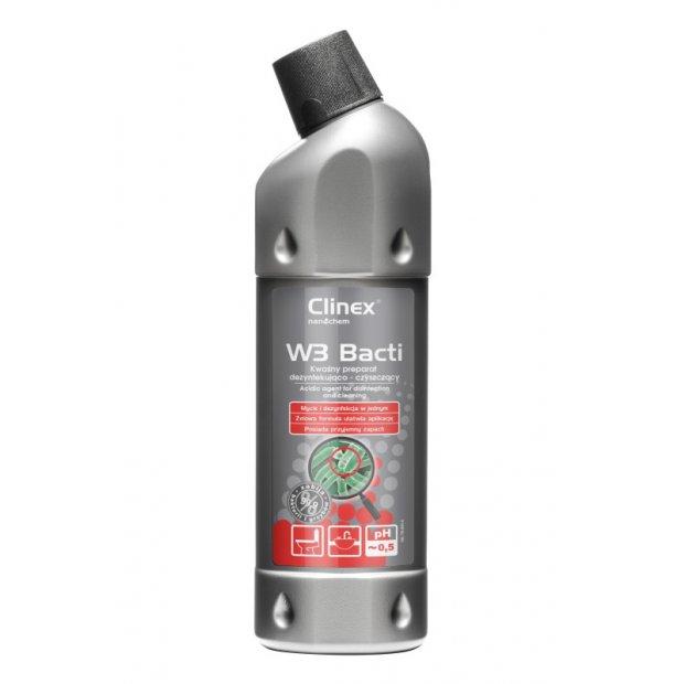 Clinex W3 Bacti - Kwaśny preparat dezynfekująco-czyszczący - 1 l