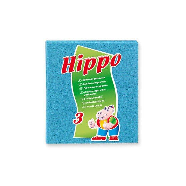 XS020 - Hippo ściereczki gąbczaste A'3 szt.