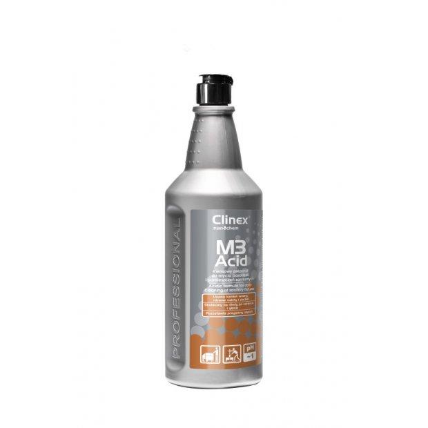 Clinex M3Acid - Kwasowy preparat do mycia powierzchni i pomieszczeń sanitarnych - 1 l