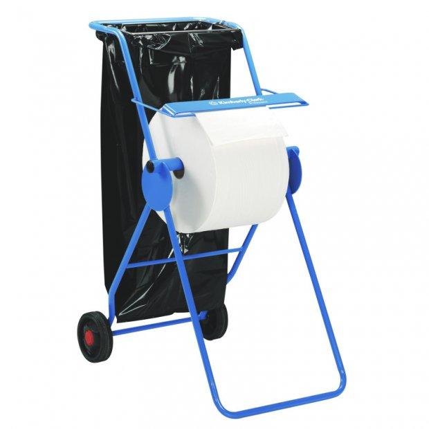 Kimberly-Clark 6155 - Przenośny stojak/dozownik na kółkach do czyściw w roli, stalowy - Niebieski