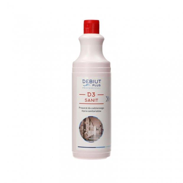 Debiut Plus Professional D3 Sanit - Preparat do codziennego mycia sanitariatów - 1 l